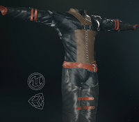 post apocalyptic clothing 3 3D
