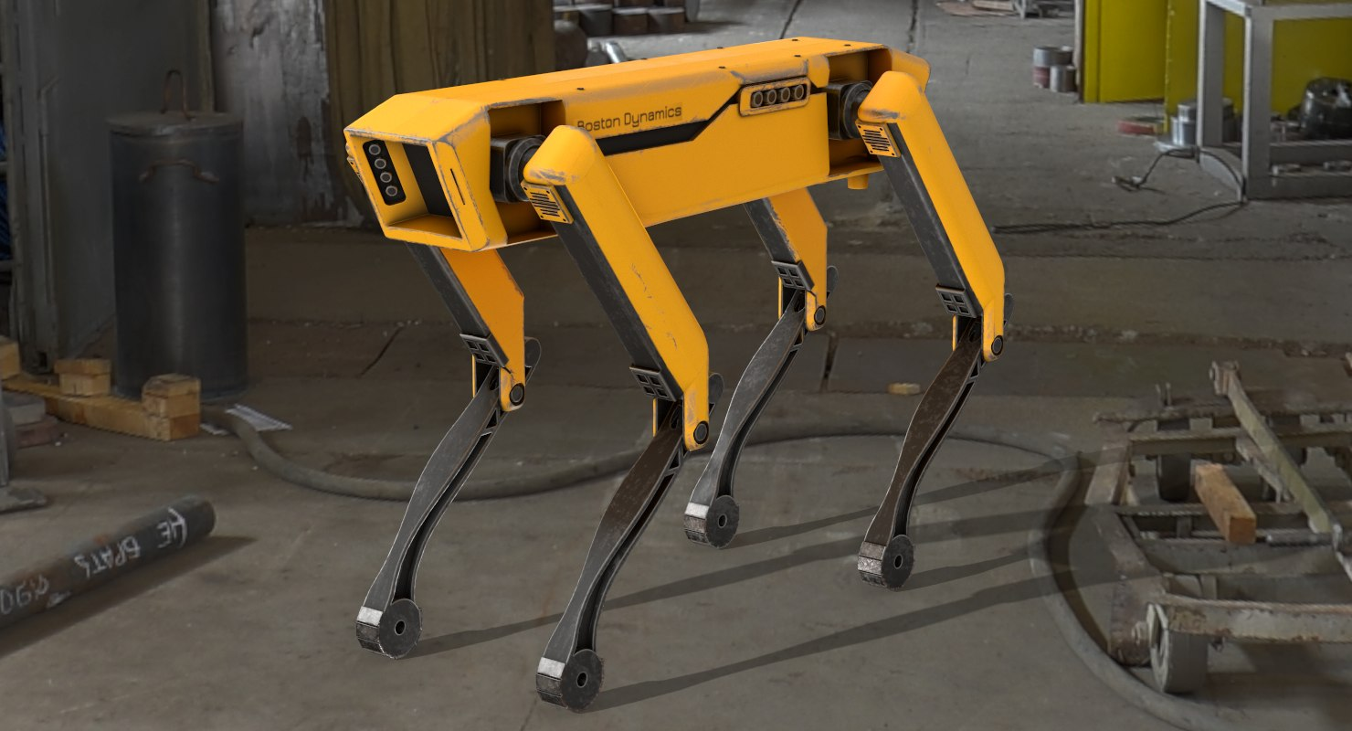 3D model spotmini robot boston dynamics