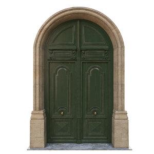 3D door classic entrance model