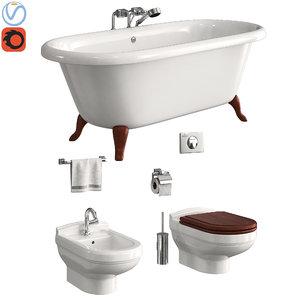 toilet villeroy boch hommage 3D