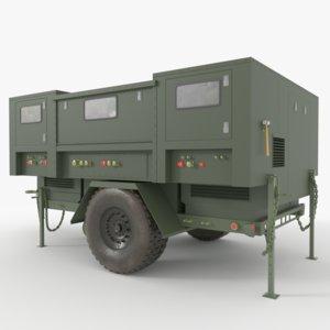 trailer military 3D model