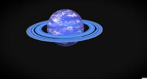 3D planet ar vr mobile