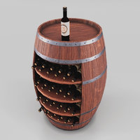 3D artificial wine stand barrel