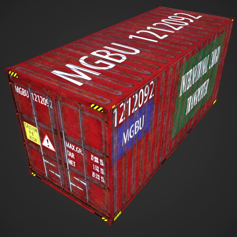 3D industrial cargo container mgbu