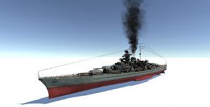 3ds max bismarck battleship