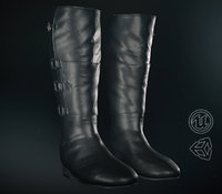 Black Leather Boots 2 PBR