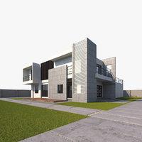 modern walls grass model