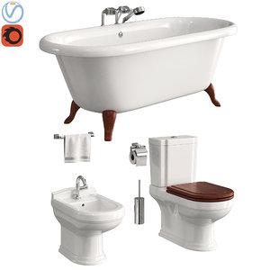 toilet villeroy boch hommage 3D model