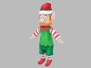 3D christmas elf mas