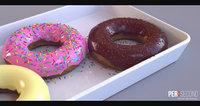 3D model doughnut donut
