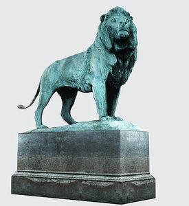 3D lion sculpt sculpture