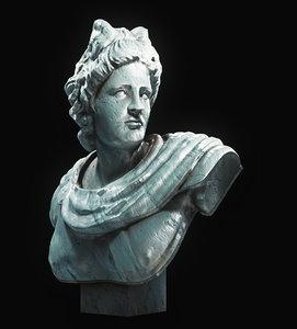 bust sculpture statue 3D model