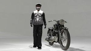 bike biker motorcycle 3D model