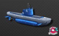 Hand Painted Diesel Submarine