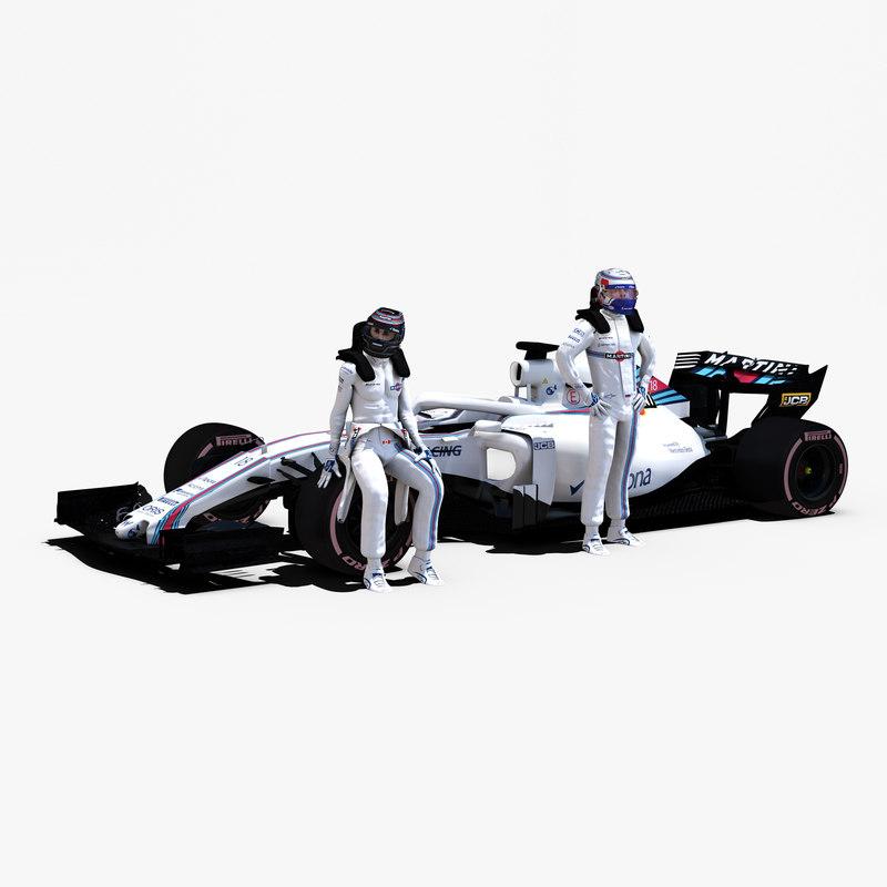 3D rigged f1 car model