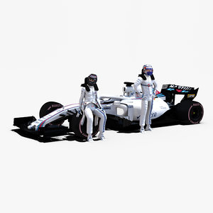 3D rigged f1 car model