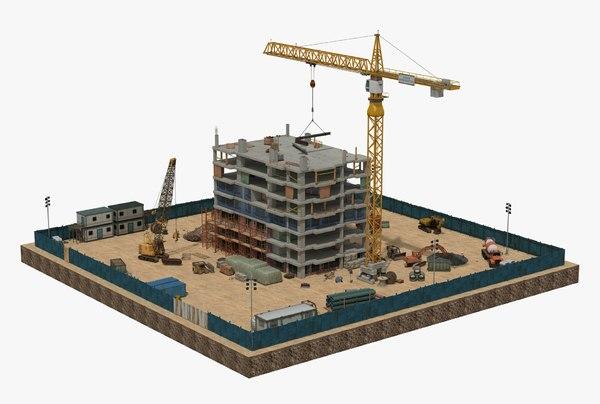 scene construction 3D model