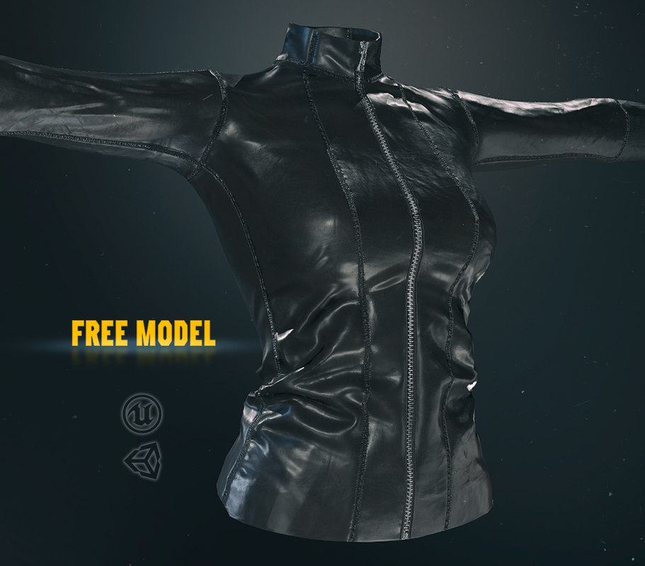 3D leather jacket pbr