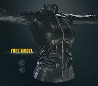 3D leather jacket pbr