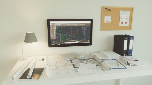 3D office set architect