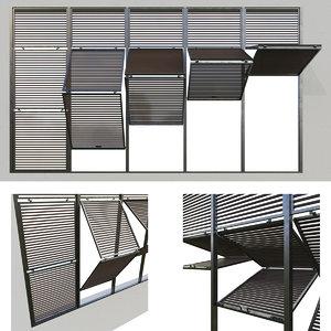 3D shutters 7