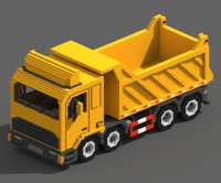 voxel tipper truck 3D