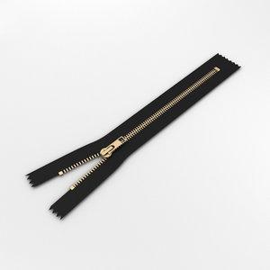 zipper fastener model