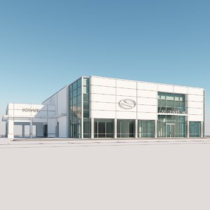 3dmodel car dealership 3D