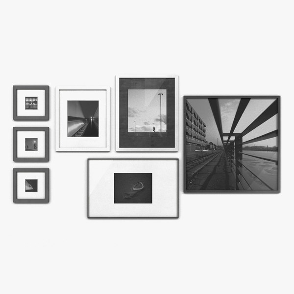 01 rectangular picture frames 3D