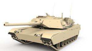 3D abrams m1 tank model
