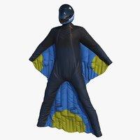 3D wingsuit pbr