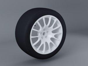 rally wheel tyre 3D model