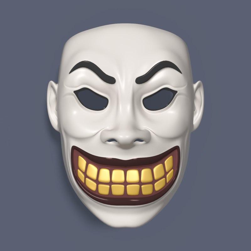 clown mask 3D