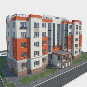 3D building landscape model