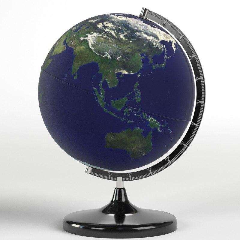 3D model desktop earth world globe maps