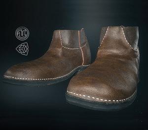 3D model leather half boot