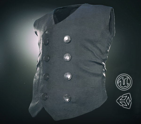 cowboy vest 3D model