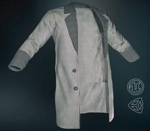 gray coat 3D