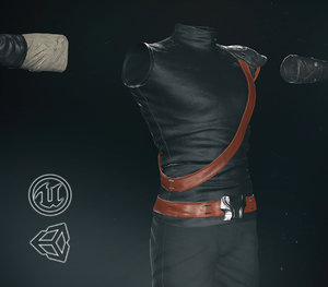 post apocalyptic male clothing 3D model