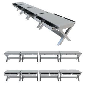 industrial table workbench model