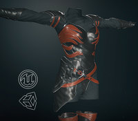 post apocalyptic clothing 9 3D model