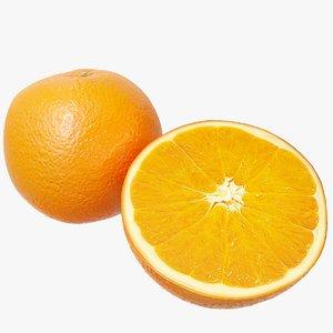 3D model realistic orange