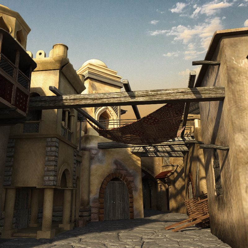 persian alley 3D model