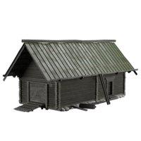 house windows door 3D model