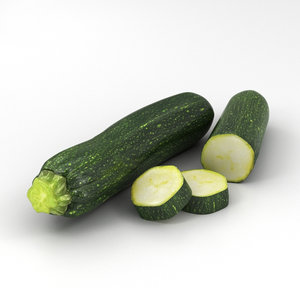 zucchini courgette vegetable 3D model