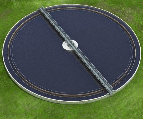 water treatment plant tank 3D model