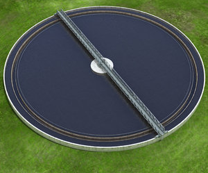water treatment plant tank 3D model