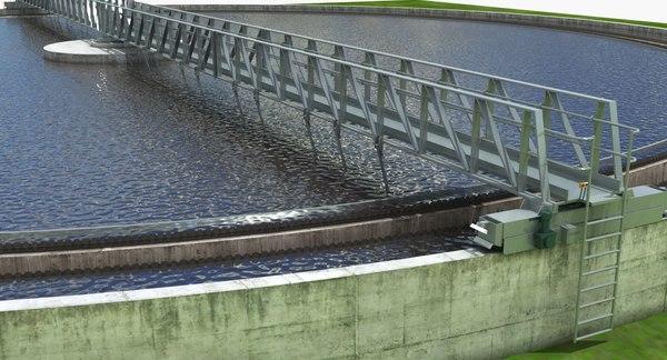 3D water treatment plant tank