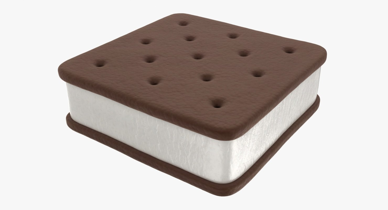 ice cream sandwich 02 3D model