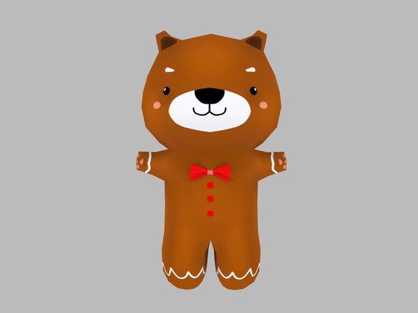 cute cartoon teddy bear model